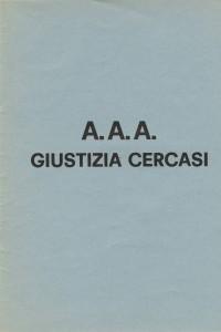 DP-1973-AAA Giustizia cercasi