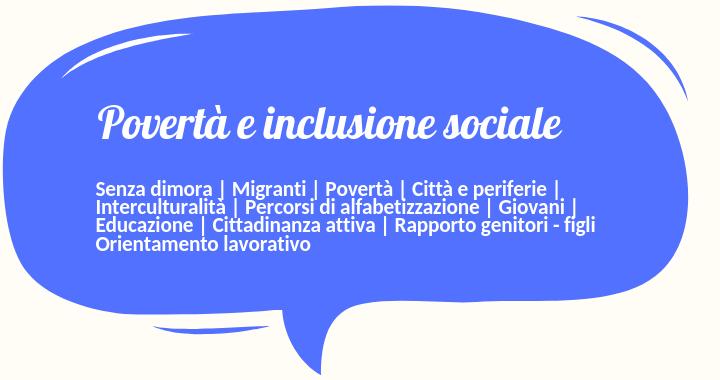 Risultati immagini per povertà e inclusione